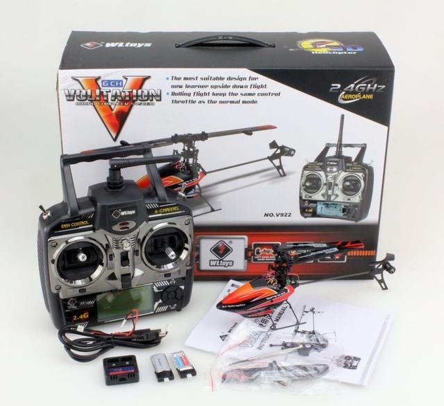 Original Wltoys Wl V922 6CH Mini 6 Ejes GYRO Electirc 2.4G RC Helicóptero de Control Remoto de Juego de la Ayuda 3D Boca Abajo vuelo