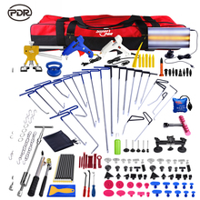 PDR Push Rod Hooks Crowbar Dent Removal Paintless Dent Repair Tools LED Light Reflector Board Hand Tool Set PDR Kit Ferramentas