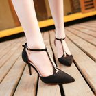 Pumps 2018 summer new women's sandals fashion bright diamond t-shoe high heel stiletto nightclub shoes
