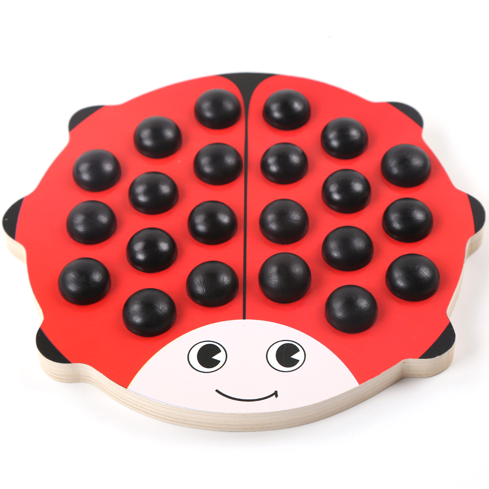 Wooden Beetle Memory Chess B Baby Educational Toys Color Cognition Wooden Toys Jigsaw Puzzle Learning Toys For  Children