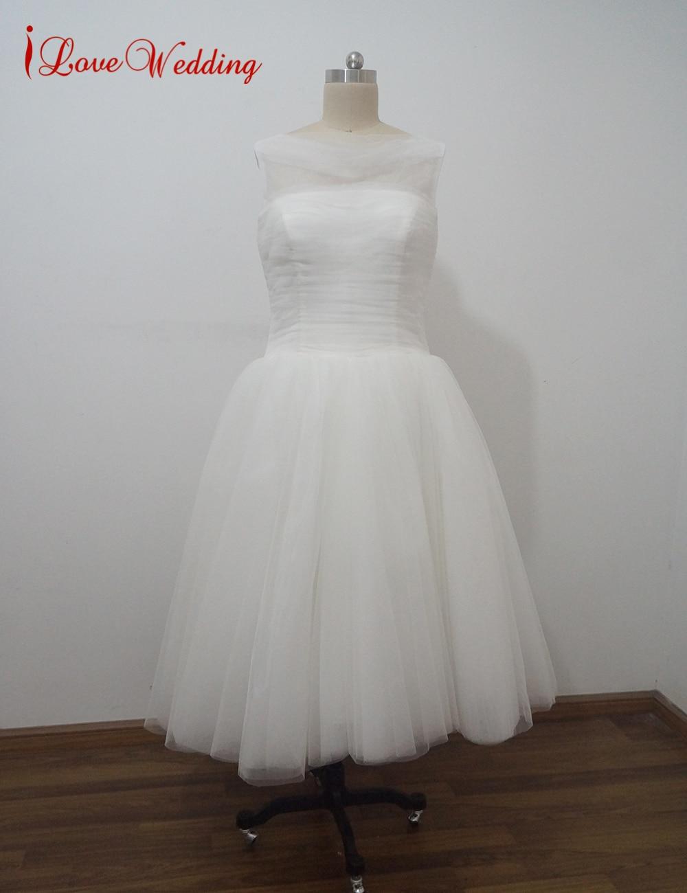 Ilovewedding New Vintage 1950s Wedding Dresses O Neckline
