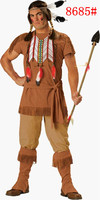 2014 Halloween Clothes Men Mounted Archers Indian Clothing Hunter Cosplay Clothing