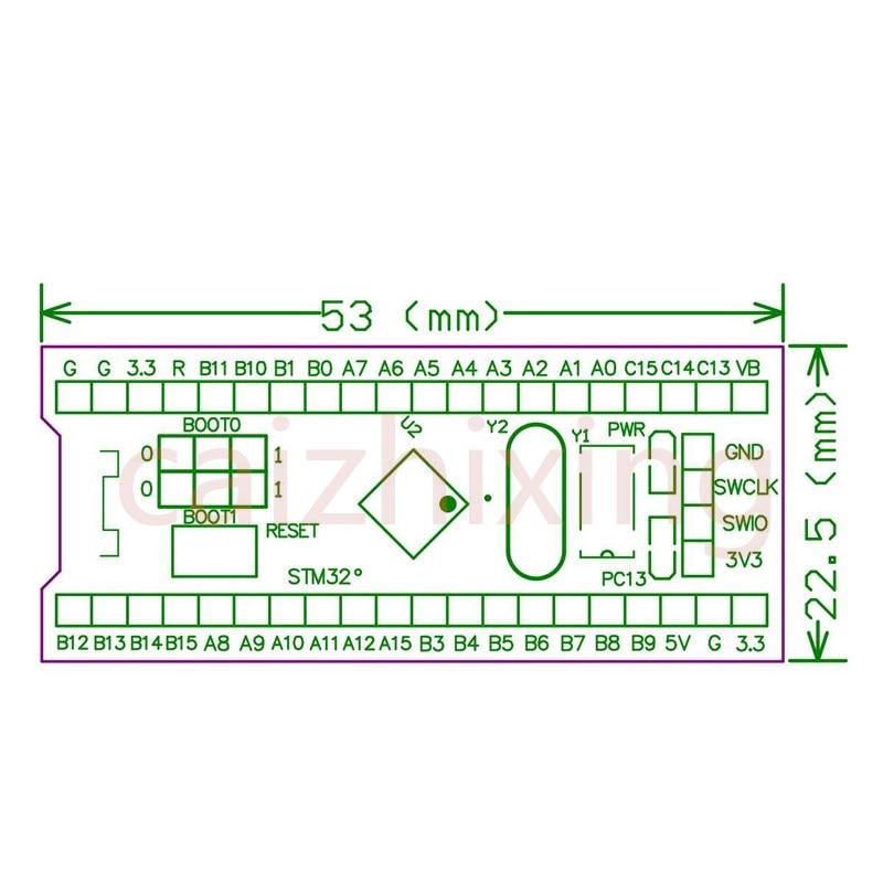 Darmowa wysyłka STM32F103C8T6 ARM STM32 minimalna systemowa płyta modułu rozwojowego dla arduino 32F103C8T6 10