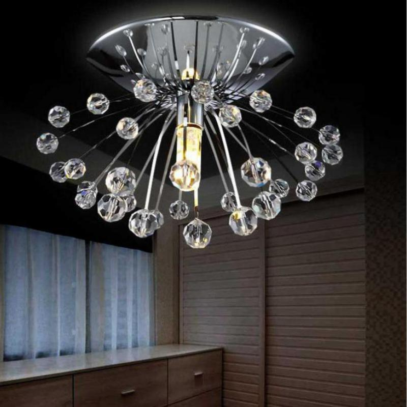Luminária de teto lustres cristal lâmpada para
