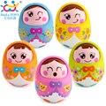 Bebé toys brinquedos párr bebe matlyoshka tambor muñeca boneca bebé sonajeros huile toys regalos lindos expresión facial original 979
