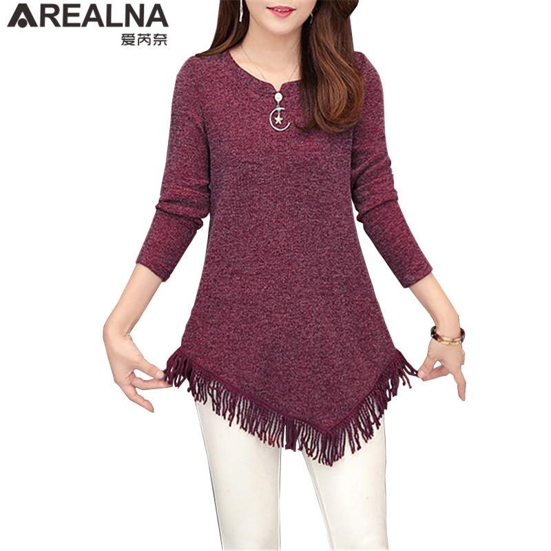 Autumn Winter Top Femme Vintage Tassel Tunic   Blouse   Women Korean Fashion Plus Size Long Sleeve Female   Blouse     Shirt   Blusas Mujer