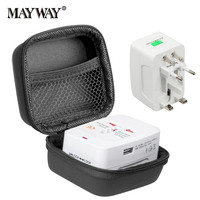 Travel Adapter With Box Universal Electric Plug Socket Adapter International Socket 1 And 2 USB Power
