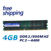 KEMBONA New PC Desktop DDR2 4GB 4G DDR2 PC2-6400 800MHz DIMM Memory RAM 240 pins For A-M-D System Motheroard