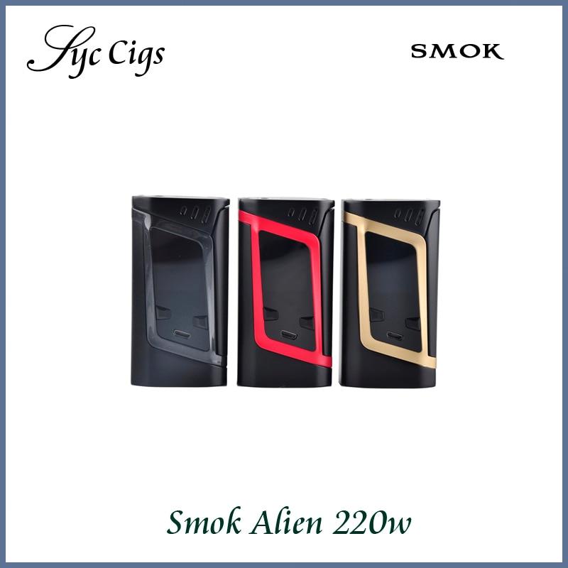 100 Original smok Alien 220w TC Box Mod font b Electronic b font font b Cigarette