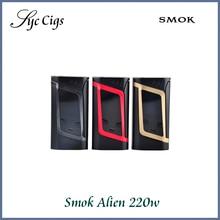 ของแท้100% smokคนต่างด้าว220วัตต์TCกล่องบุหรี่อิเล็กทรอนิกส์สมัยTempretureควบคุม18650 VapeสมัยSmokคนต่างด้าวสมัย