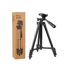 Купить с кэшбэком Kaliou Tripod 3120 With 3-Way Head for Nikon D7100 D90 D3100 DSLR Sony NEX-5N A7S Canon 650D 70D 600D with Carry Bag