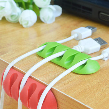 Desktop Cable Winder Earphone Organizer Wire Storage Charger Cable protector Useful Holder Clips Popular Fashion Hot Sales