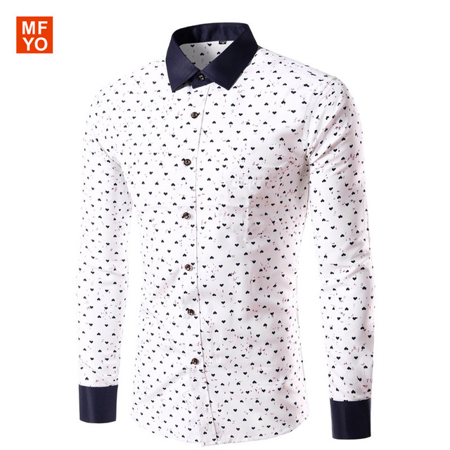 Heart Fashion Clothing Love Men Spring Care Shirt Brand Autumn Easy wq1zwp4