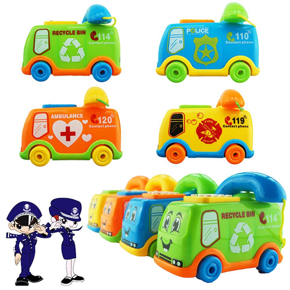 Funny Music Cartoon Bus Phone Educational Developmental Kids Baby Toy Gift