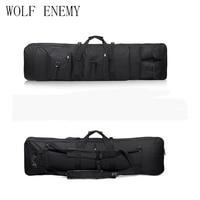 Comprar 47 pulgadas 120 cm 1,2 m SWAT Dual táctico resistente multiusos mensajero de gran capacidad bolsa de transporte para pistola de Rifle negra