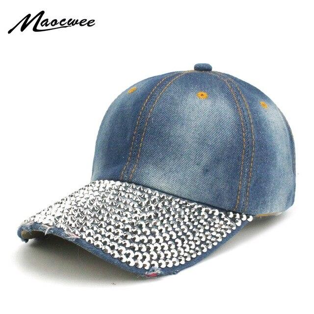 Cowboy Diamond Baseball Cap Fall Casual Sanpback Dad Hats for Men and Women  Outdoor Sport Denim 0fa9290d89fc