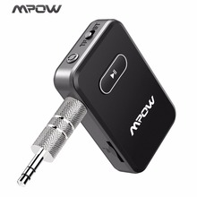 Mpow Bluetooth 4.0 Receiver Wireless  3.5mm Audio Adapter Supports 32G TF Card For Driver CellPhones PC TV Car Stereo System