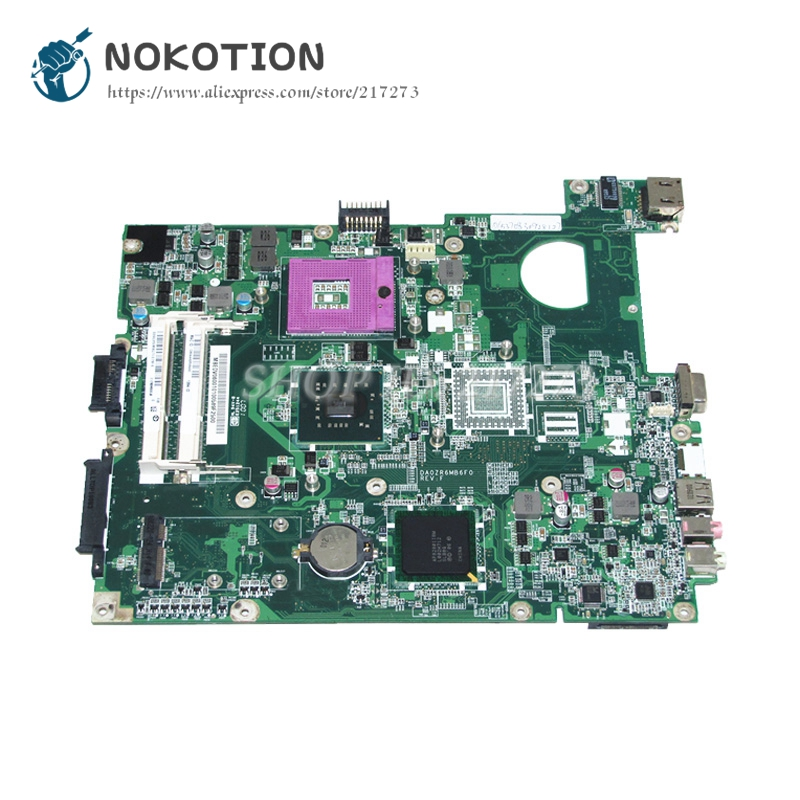NOKOTION For Acer Extensa 5235 5635 E528 Laptop Motherboard MBEDV06001 DA0ZR6MB6F0 MAIN BOARD GL40 DDR3 Free CPU