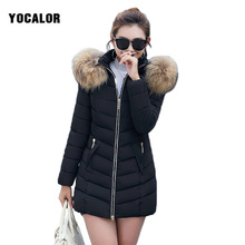 2019 Winter Large Sizes Jacket For Women Long Slim Parka With Raccoon Fur Collar Coat Female Snow Wear Hood Korean Quilted Coats цены
