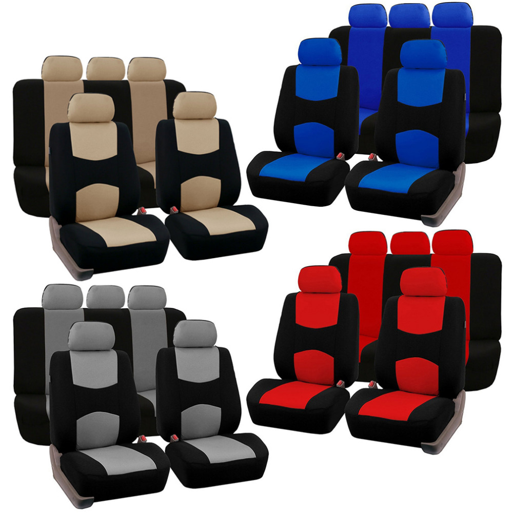 4 Colors Style Front Rear Universal Car Seat Covers Luxury