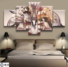Hot Sales Without Frame 5 Panels Picture Naruto Sasuke Animation Posters Painting Artwork Wall Art Canvas Wholesale