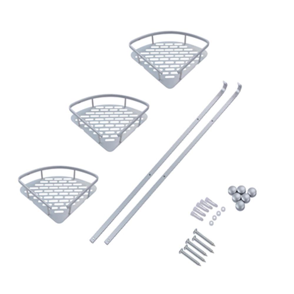 rangement salle de bains 3 Layer Shower Caddy Bath Rack Shelf Space ...