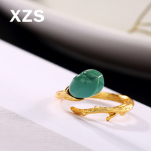 100% Genuine S925 Sterling Silver Chinese Style Hand Made Gem Vintage Rings Women Luxury Valentines Day Gift Jewelry JZCN-18012