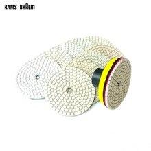"""10 + 1 pcs 3""""/80mm Diamond Flexible Wet Polishing Disc + Holder for Marble Stone Ceramic Granite Tile Concrete Grinding"""