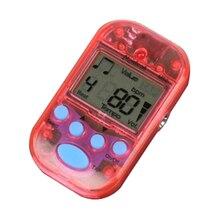 Meideal ABS mini electronic metronome with 1 button battery 11.8cm * 7.8cm * 2.5cm transparent
