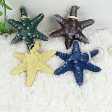 Resin starfish marine style 13cm hexagonal artificial home fish tank decoration shooting props set Mediterranean