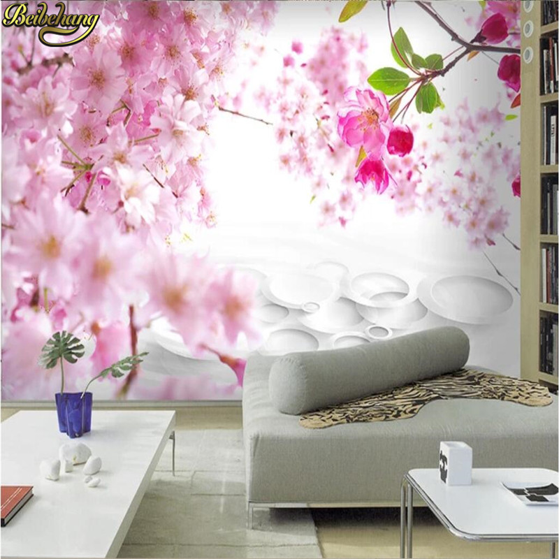 Beibehang Custom Wallpaper 3D Mural Modern Fashion Beautiful Peach Family 3D TV Background Wall Papers Home Decor Wall Paper