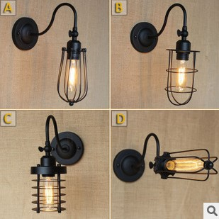 Vintage Wall Sconce, Black Retro Style Loft Industrial Wall Lamp Lights Fixtures Arandela Lampara De ParedVintage Wall Sconce, Black Retro Style Loft Industrial Wall Lamp Lights Fixtures Arandela Lampara De Pared