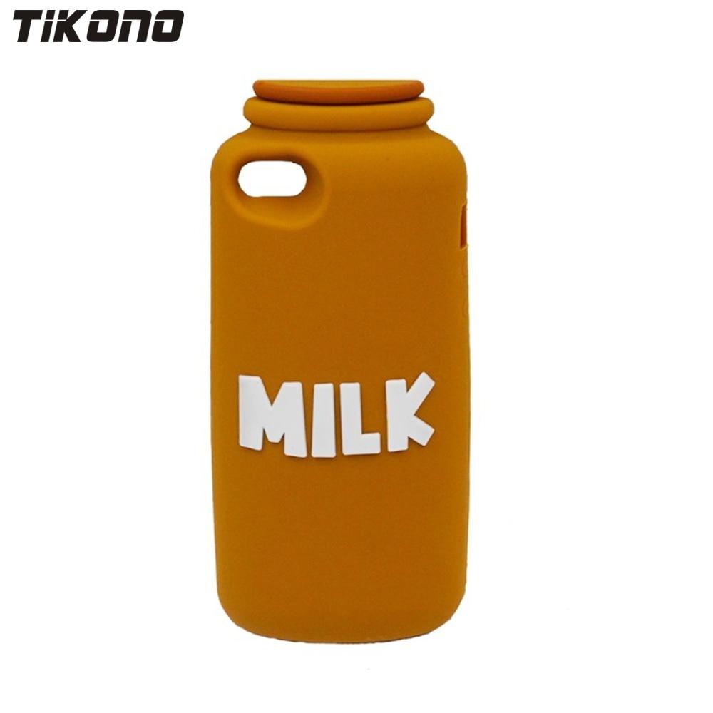 Tikono 3D mjölkflaskedesign Mjuk silikonfodral för iPhone 5 5S söt - Reservdelar och tillbehör för mobiltelefoner - Foto 4