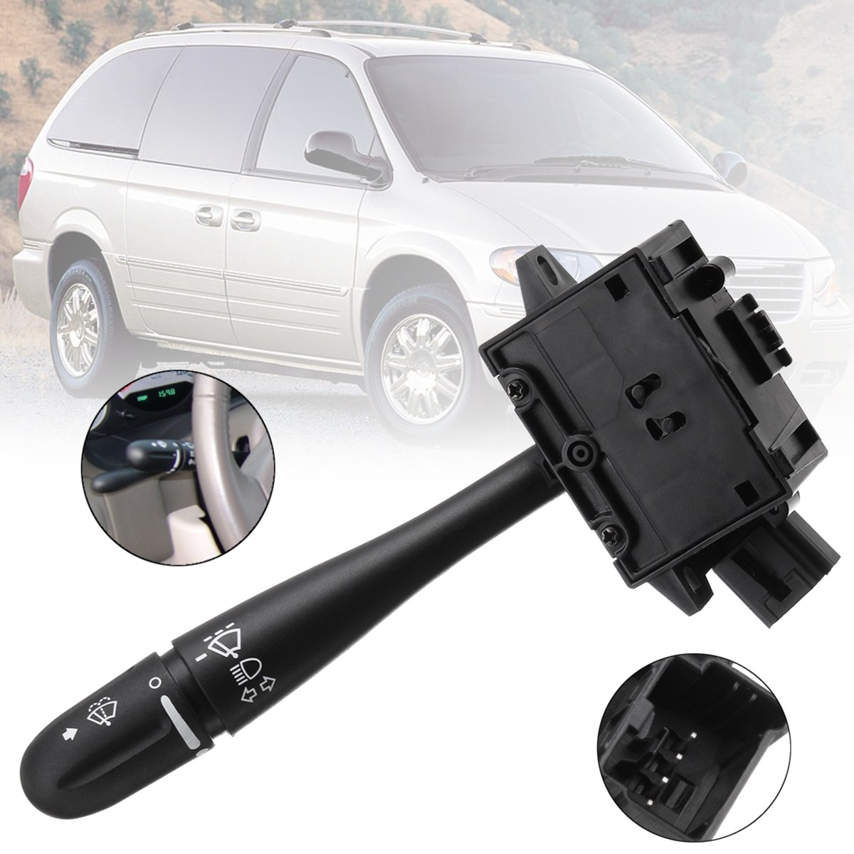 Steering Column Turn Signal Headlamp Switch Wiper Blade Unit For Dodge Grand Caravan Chrysler Voyager 2003 2004 2005 2006 2007 backless lace up midi bodycon dress