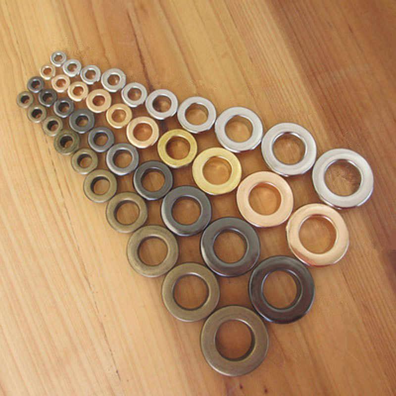 Materiales de bricolaje XUNZHE 3,5mm 50 piezas arandelas. ¿Remaches? Pero ¿Ojales? Multicolor hebilla Herramienta de ojal con agujeros de metal