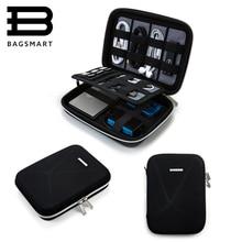 BAGSMART כונן קשיח חדש מקרה Shockproof כונני DVD חיצוניים נשיאת תיק נסיעות ארגונית אלקטרונית תיק