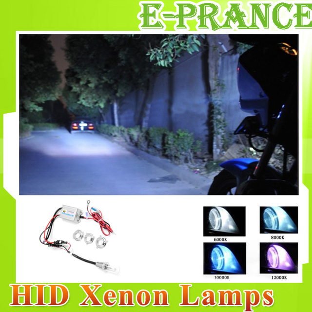 Hyper 6000K 35W HID XENON Headlight Bulb Car Fog light KIT Motorcycle lens motorcycle projector kits,bulb,shroud,angel eye moto