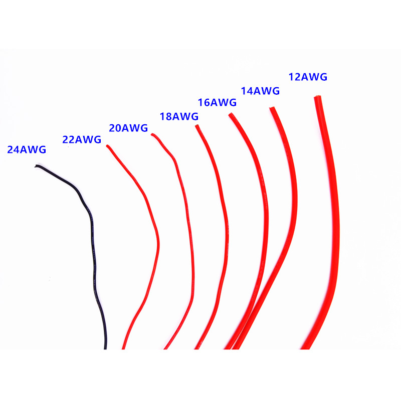 1Meter Red+1Meter Black 12AWG 14AWG 16AWG 18AWG 20AWG 22AWG 24AWG Heatproof Soft Silicone Wire Cable for RC Lipo Battery 20m lot 10 meter red 10 meter black 12awg 14awg 16awg 22awg 24awg heatproof soft silicone wire cable for rc model battery part