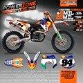 Пользовательские Команды Графики Фоны Индивидуальные Наклейки 3 М Наклейки Комплект Для KTM Go Pro W XCW XC EXC F SXF125 SX-530 Бесплатно доставка