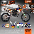 Custom Team Graphics Backgrounds Customized Decals 3M Stickers Kit For KTM Go Pro EXC W XC XCW F SX SXF125 -530 Free Shipping