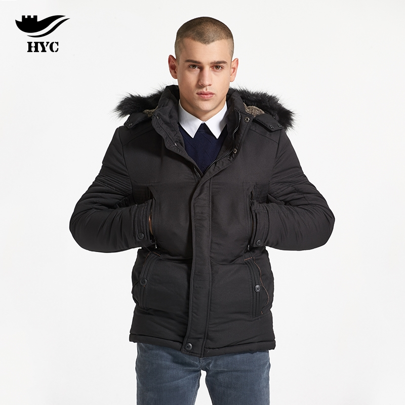 HAI YU CHENG Parka Men's Winter Jackets College Coat Male Windbreaker Men Winter Coat Plus Size Men Jacket Thick Trench Anorak