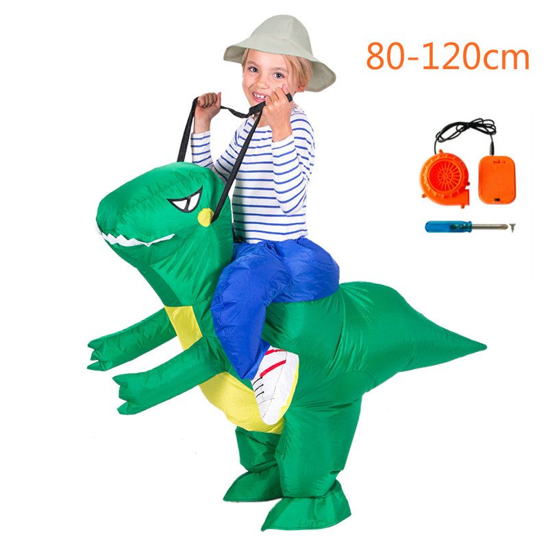 Inflatable Dinosaur Costumes Elk Unicorn Horse Toys Animal Costume for Kids Girls Boys Adults Halloween Christmas Cosplay christmas costumes children animal cosplay rompers inflatable funny chick fancy kids baby 7 24m halloween costume disfraces
