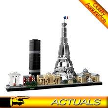 17015 город известная архитектура Парижа строительные блоки модели Эйфелевой башни кирпичи день рождения игрушки Совместимые Legoing 21044
