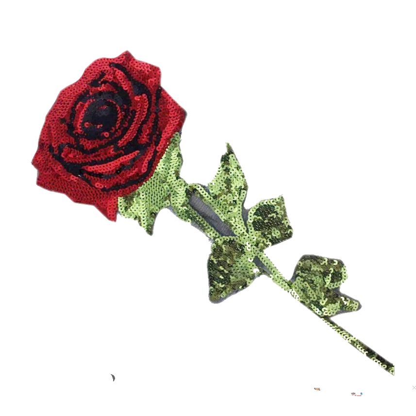 Sequin Rose Flower Iron On Patches for Clothing Jean Jacket Parches - Seni, kraf dan jahitan - Foto 4