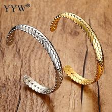 YYW Unique Stainless Steel Bracelets Bangle Luxury LoverS Cuff Silver Gold Spike Opening Jewelry For Women