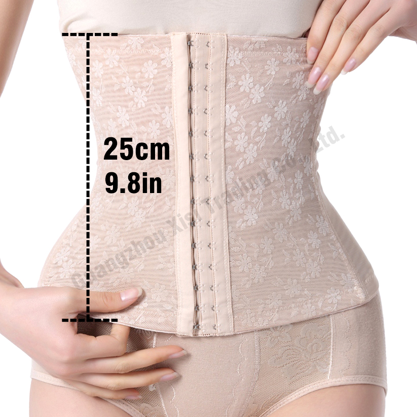 092e372e11b Women Solid Breathable HOT Shapers 4 Spiral Steel Boned Corsets Corselet Waist  Trainer Cincher Lace Fat Burning Slimming Vest