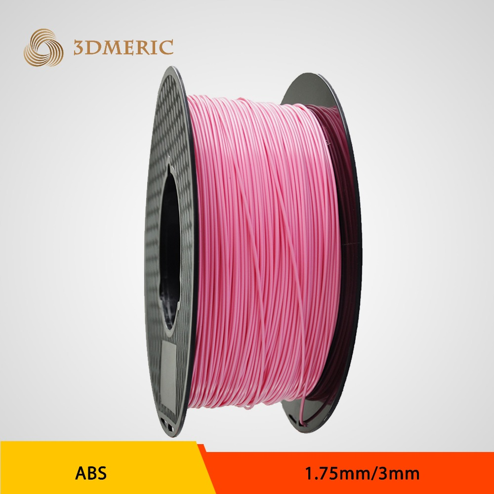1.75mm Pink  ABS 3D Printer Filament - 1kg Spool (2.2 lbs) - Dimensional Accuracy +/- 0.05mm flsun 3d printer big pulley kossel 3d printer with one roll filament sd card fast shipping