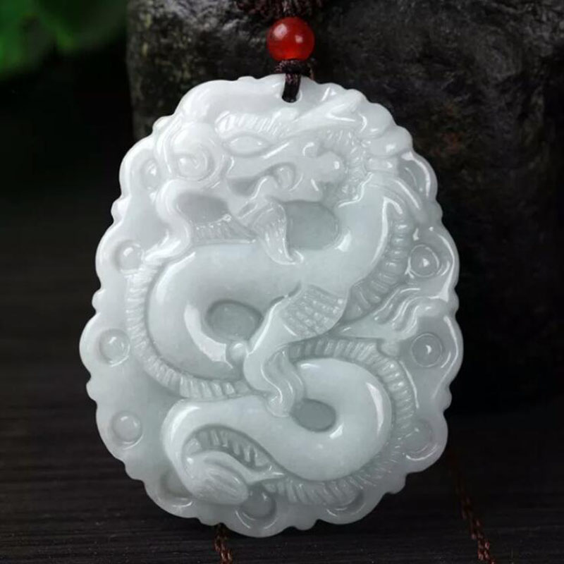 Yu Xin Yuan Fine Jewelry Hetian Jade Carved Chinese Dragon Pendant Blessing Brave Necklace Hot 2017 yu xin yaun hetian white jade drop pendant silver inlaid with jade pendant