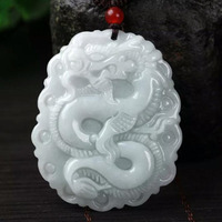 Yu Xin Yuan Fine Jewelry Hetian Jade Carved Chinese Dragon Pendant Blessing Brave Necklace Hot 2017