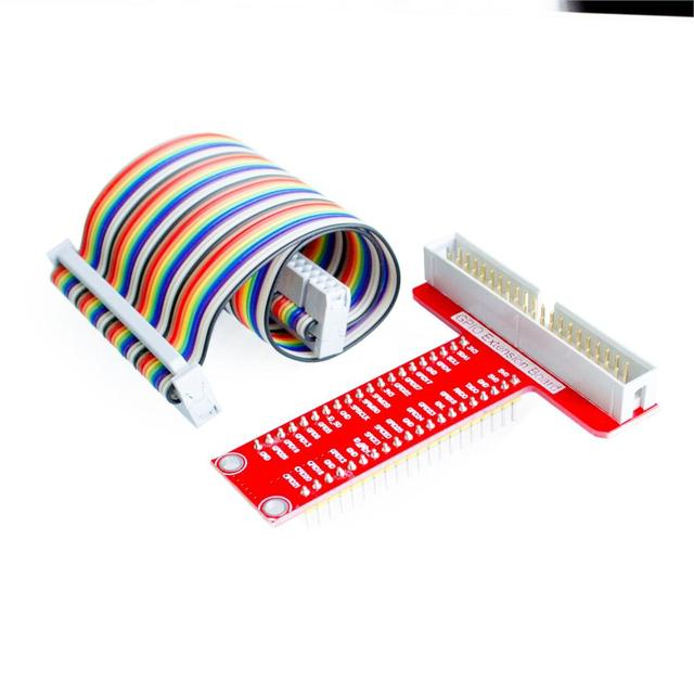 Raspberry Pi 3&Raspberry Pi Model 3B+ T expansion DIY kit (40Pin GPIO cable + T GPIO Breakout Expansion Adapter Board